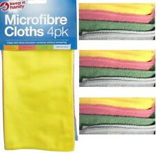 Pack Of 4 Microfibre Cloths Polishing Cleaning Dusting High Quality Micor Fibre