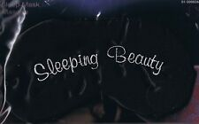 SLEEPING BEAUTY  - BLACK SATIN SLEEP MASK - NEW - GREAT FOR MIGRAINE SUFFERERS