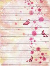 Abstract Butterfly Lined Stationery Writing Paper Set, 25 sheets & 10 envelopes