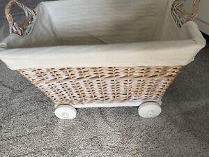 Nursery Mamas And Papas Wheeled Storage Basket