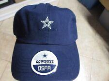 DALLAS COWBOYS HAT (ADJ) NWT $25 NAVY W/STAR LOGO ADJUSTABLE BELT COWBOYS BRAND