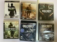 "Call Of Duty PS3 Video Game Bundle ""MW1"" ""MW2"" ""MW3"" ""Black Ops"" Advance, Ghost"