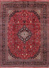 Vintage Floral Ardakan Oriental Hand-Knotted Area Rug Dining Room Carpet 9'x13'