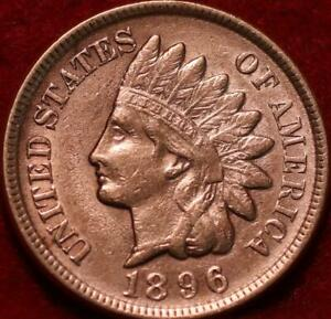 Uncirculated Red 1896 Philadelphia Mint  Indian Head Cent