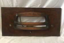 vintage RCA CONSOLE RADIO FRONT FACEPLATE Wood