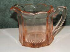 Large Vintage Pink Depression Glass Pitcher Creamer