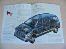 1991 Plymouth Voyager Brochure -Near Mint to Mint
