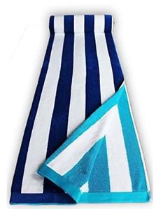 BLUE CANDY STRIPES JUMBO EXTRA LARGE BEACH 170x90cm VELOUR EGYPTIAN COTTON