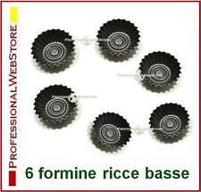 FORME PER PASTICCERIA DOLCI 6 STAMPI DA FORNO FESTONATI formine ricce basse cm 7
