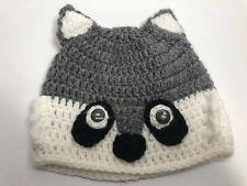 Handmade Crochet Wolf beanie hat infant baby toddler 6 Months Homemade