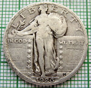 UNITED STATES 1926 PHILADELPHIA QUARTER - 25 CENTS STANDING LIBERTY, SILVER