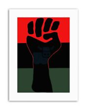 CIVIL RIGHTS BLACK POWER FIST AFRICAN USA Poster Political Canvas art Prints