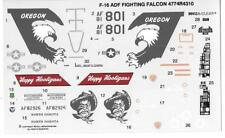 Loose, F-16 ADF Fighting Falcon Decals 1/48 4774R4310 Revell  No Instructions