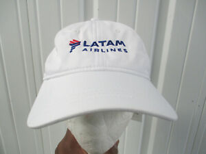LACOSTE SPORT X LATAM AIRLINES SEWN WHITE STRAPBACK HAT CAP NEW W/ TAGS CHILE