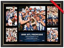 NORTH MELBOURNE 1996 AFL PREMIERS OFFICIAL PRINT FRAMED - WAYNE CAREY -KANGAROOS