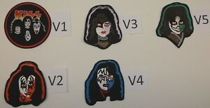 KISS Rock n' Roll Patch Patches~7 Versions~Embroidered Applique~Iron~Ships FREE