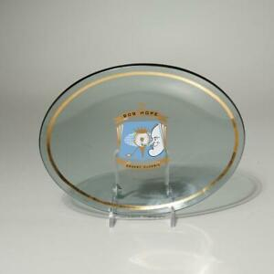 VTG. 1969 BOB HOPE DESERT CLASSIC 10TH ANNUAL TOURNAMENT COLLECTIBLE GLASS DISH