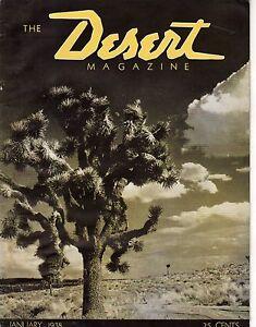1938 Desert January - Third issue -Desert Inn Palm Springs;Mohaves;Colossal Cave