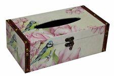Vintage Bird & Flower Design Tissue Box Summer Garden Rectangular Tissue Cover
