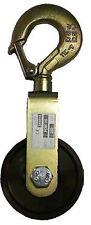 Poulie à chape simple à câble CMU 2000kgPoids4,59kg Ø réa 200mm Ø câble 14/16mm