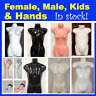 Glossy Female Male Kids Child Mannequin Torso Display Hand White Black Skin Tone