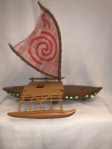 """DISNEY MOANA Starlight 18"""" Canoe Raft Boat With Working Light"""