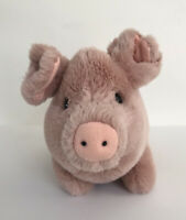Vintage FAO Schwarz Fifth Avenue Pig Piglet  Plush Pink Stuffed Animal 11""