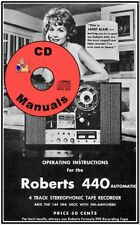 Roberts 440 Owners Manual Reel Tape Recorder Deck Cd Only