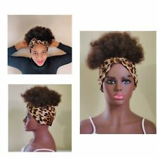 2in1 Wrapwig |  HeadBand Wig Dark | Kinky Wig | Afro Wig Wig For Black Women 8in