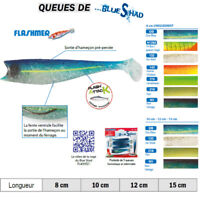 FLASHMER : 5 CORPS BLUE SHAD : Shad souple anti accroche, aromatisé