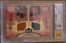 Michael Jordan Lebron James 2006-07 UD Hardcourt DUAL FLOOR AUTO /23 BGS 9/10!!!
