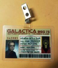 Battlestar Galactica ID Badge - Admiral William Adama cosplay prop costume