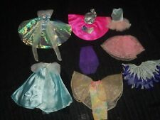 Vintage lot of MATTEL BARBIE GOWNS Dresses SKIRTS Dance Doll accessories #32