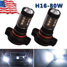 2X 80W Cool White High power LED 5202 Fog Driving Light Bulb 5201 H16 PS24W