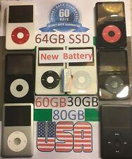 Ipod video classic 5th - 5.5 - 6th  30gb - 60gb - 64gb SSD - 80gb New Battery