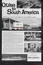MOORE MCCORMACK LINES CRUISE SS BRASIL & ARGENTINA 1960 THE YEAR OF BRASILIA AD
