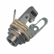 Neutrik NYS230 connector 6.3mm stereo jack chassis socket (Open jack, 3-pole)