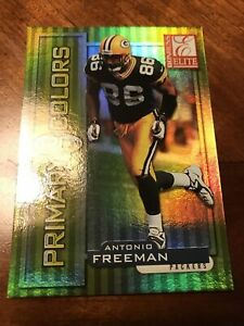 RARE 1999 Donruss Elite Antonio Freeman #20 Primary Colors Gold #1542/1875 MINT