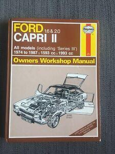 Haynes Ford Capri Mk2 1.6 & 2.0 1974-1987 All Models Owners Workshop Manual