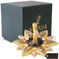 Hand-Painted Spinning Dreidel Holiday Ornament (Pewter) Elegant Matashi Crystals