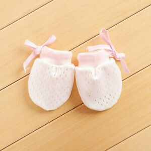 Baby Anti Scratching Mittens Protection Face Cotton Summer Breathable Mesh Glove
