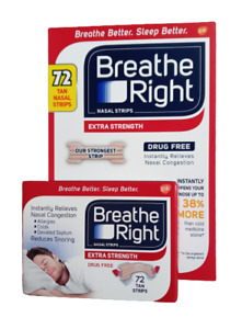 """Breathe Right Extra Strength 72 (Tan) Nasal Strips """"Our Strongest Strip"""""""