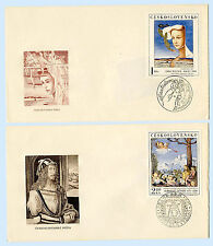 Czechoslovakia 1971 Art Painting FDC 2 First Day Covers 1779 1783 Kral Durer