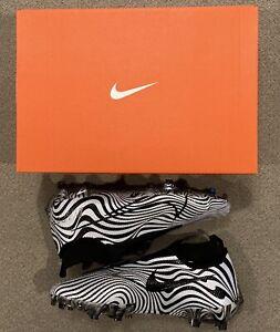 Nike Vapor Edge Pro 360 Football Black White Zebra Cleats AO8277-109 Size 10.5