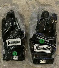 Franklin Carbon Fibre Batting Gloves Black Xl (2) Pairs