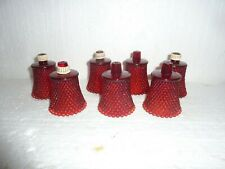 7 Vintage Ruby Red Hobnail Glass Peg Votive Candle Holders Home Interiors