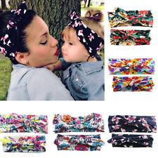 BL_ 2Pcs/Set Mom Baby Headband Toddler Bow Hair Band Accessories Headwear Trendy