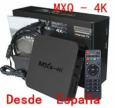 1 MXQ 4K Smart HD TV BOX Android 8G WiFi Media Player XBMC Equipos DLN Amlogic