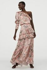 Johanna Ortiz (H&M) SS2020  SIZE 8 Pink Floral one Shoulder Maxi Dress