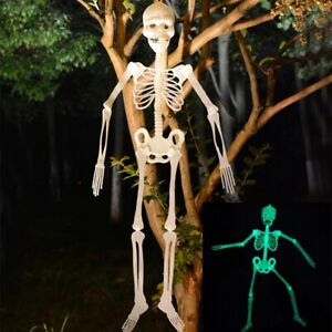 Luminous Halloween Poseable Human Skeleton Full Life Size Props Party Decoration
